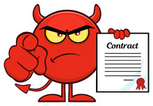 Angry Red Devil Cartoon Emoji ...