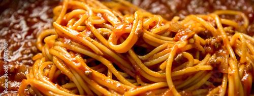 Stampa su Tela Italian bolognese spaghetti with minced meat