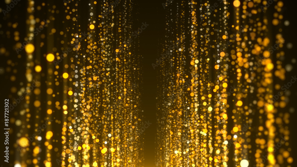 Fototapety, obrazy: Gold particles awards background