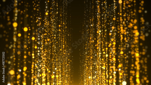 Gold particles awards background Canvas Print