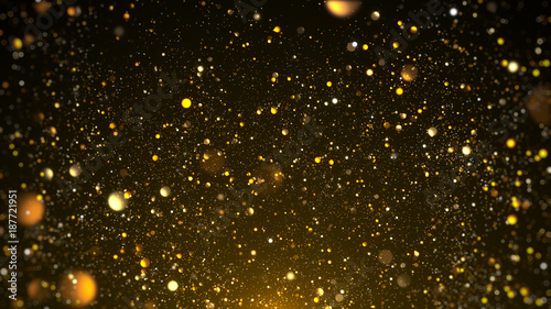 Fotografie, Obraz  Gold bokeh awards background.