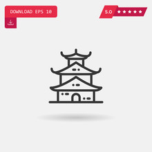 Pagoda Vector Icon