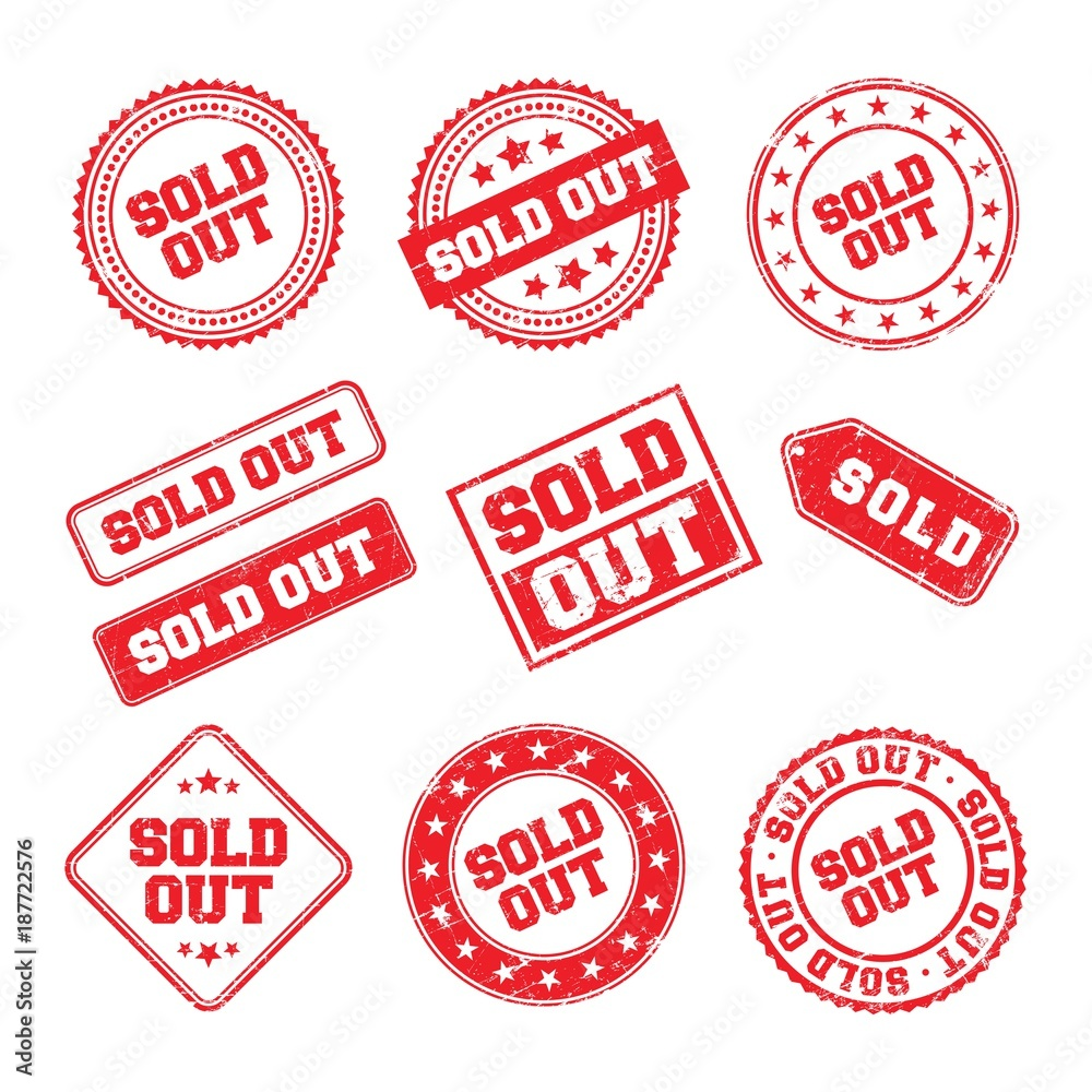 Fototapety, obrazy: Sold Out Logo Badge