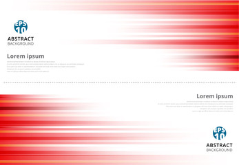 Red abstract horizonal lines background technology with copy space banner
