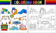 Coloring Book With Playground ...