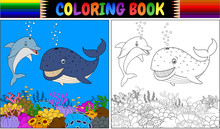 Coloring Book With Cartoon Dol...