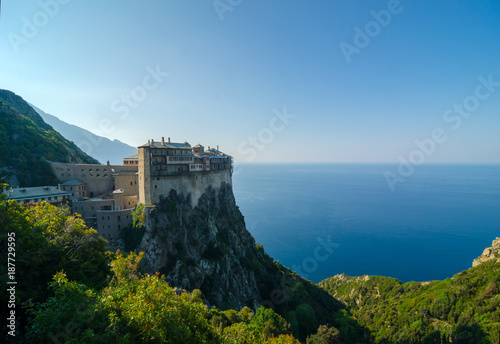 Valokuvatapetti The monastery of Simonopetra in Mount Athos monastic republic, Greece