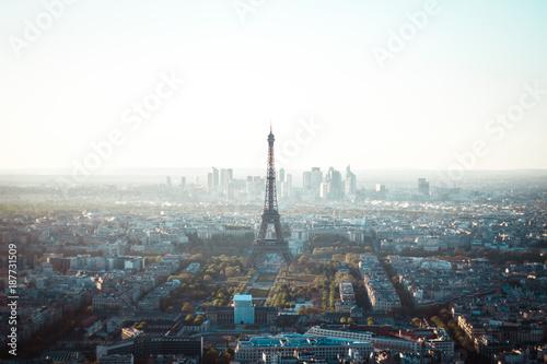 Printed kitchen splashbacks Eiffel Tower Aerial Morning Eiffel Tower View In Paris