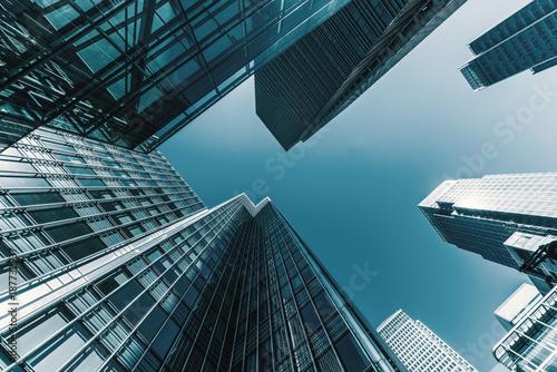 Staande foto London skyscrapers in a finance district