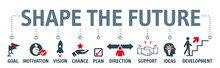 Banner Shape The Future - Looking For Future And Make Plans
