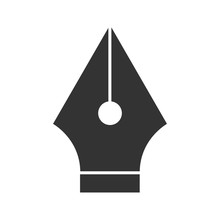 Fountain Pen Nib Glyph Icon