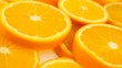 Fresh citrus fruits. Rotate Video footage of the concept of a healthy food and diet. Spinning sliced oranges