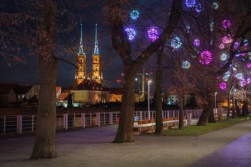 Fototapeta Christmas atmosphere in Wroclaw, Poland