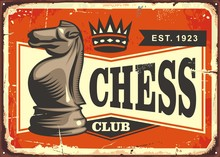 Chess Club Vintage Tin Sign Wi...