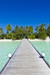 Bootssteg auf den Malediven