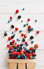 Explosion Of Different Berries...