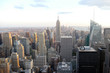 Manhattan skyline from a high tower in New York