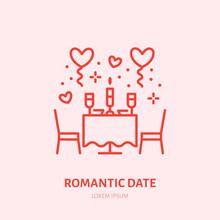 Romantic Date Illustration. Di...