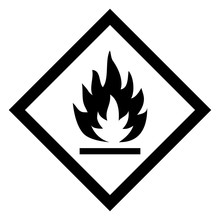 Hazardous Icon Of Flammable From International Ghs System