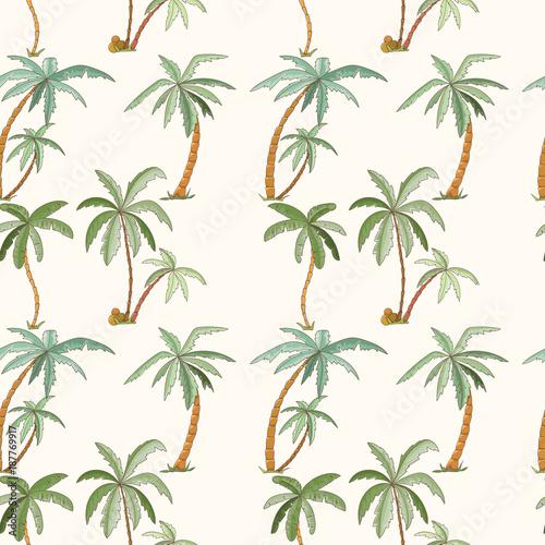 bezszwowy-tropikalny-palma-wzor
