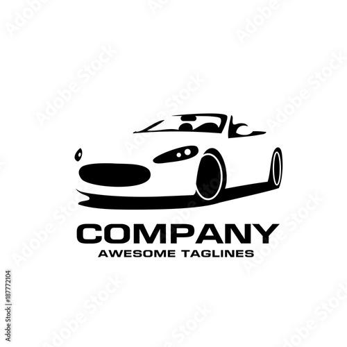 Vector Car Silhouette Logo Silhouette Of Sport Car Style Vector