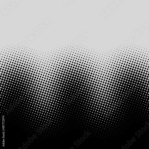 Valokuva  Color halftone gradient waves