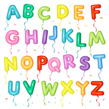 Balloon Colorful Font For Kids...