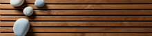 Zen Pebbles Set On Design Wood...