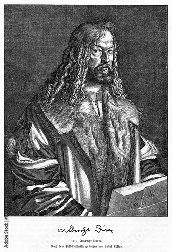 Fotomural Self-portrait of Albrecht Dürer, german renaissance painter, printmaker and theo