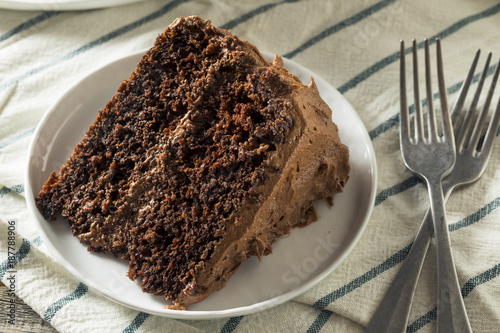 Sweet Homemade Dark Chocolate Layer Cake Canvas Print