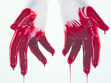 White Gloved Bloody Hands Dripping