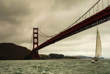 Sailing Under Golden Gate Bridge