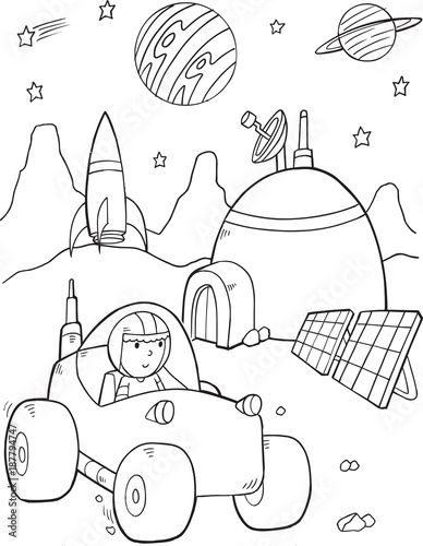 Space Base Vector Illustration Art