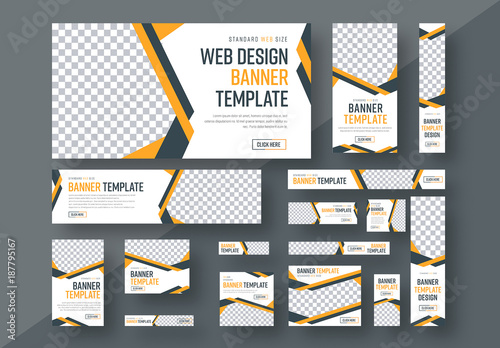 Web Banner Layout Set 3. Buy this stock template and explore similar ...