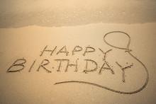 Happy Birthday Word Is Written...