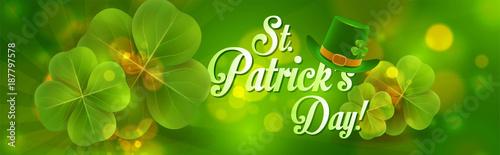 Fotografía  St. patrick's day banner
