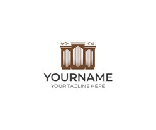 Pipe Organ Logo Template. Musi...