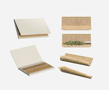 All Natural Rolling Papers - Marijuana Joint Rolling - Isolated