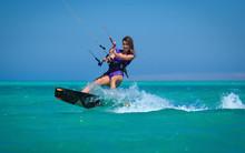 Kite Surfing Girl In Sexy Swim...