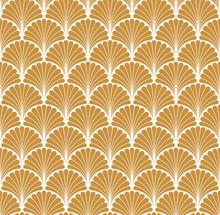 Vector Floral Art Nouveau Seam...