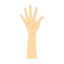 Hand Showing Five Fingers Icon...