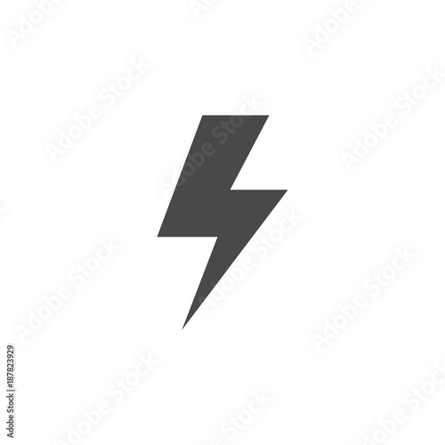 lightning bolt thunder vector icon for charging electricity industrial and battery eps10 gray buy this stock vector and explore similar vectors at adobe stock adobe stock lightning bolt thunder vector icon for