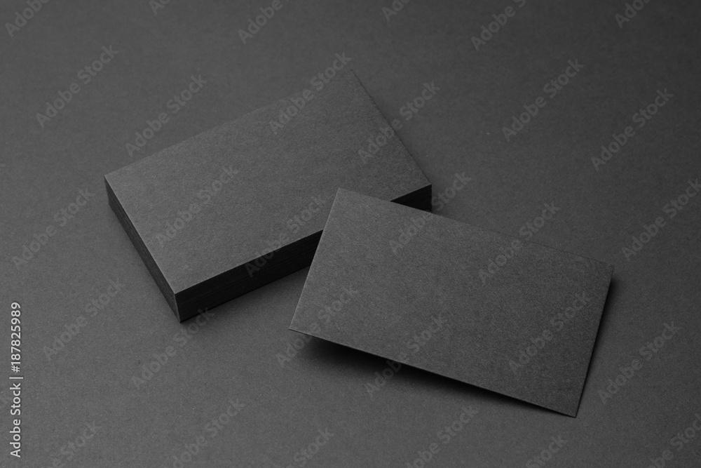 Fototapety, obrazy: Business card on black background