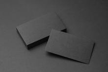 Business Card On Black Backgro...
