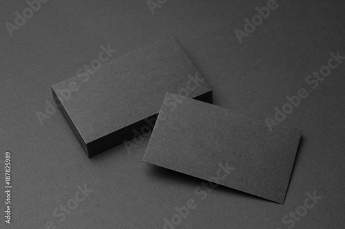 Fotografia, Obraz  Business card on black background