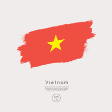 Flag Of Vietnam In Grunge Brus...