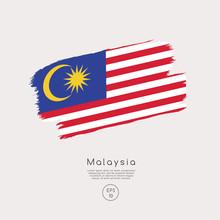 Flag Of Malaysia In Grunge Bru...