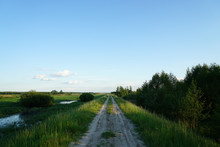 Gravel Road Through Wetlands