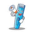 With megaphone trimmer character cartoon style