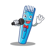 Singing Trimmer Mascot Cartoon...